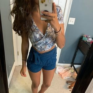 Free people side tie shorts